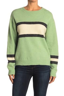 Lush Stripe Print Knit Sweater