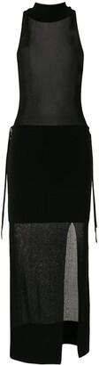 Dion Lee Sheer Asymmetric Sleeveless Dress