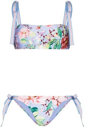 Zimmermann Bellitude floral-print bikini