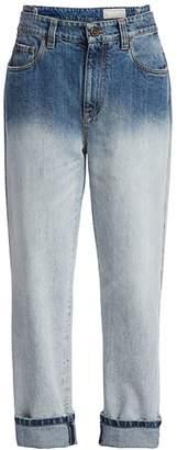 Brunello Cucinelli Ombre Rolled Boyfriend Jeans