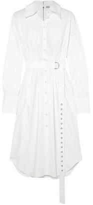 Tibi Watts Cotton Oxford Shirt Dress