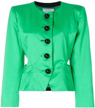 Yves Saint Laurent Pre Owned Oversized Button-Detailed Jacket