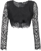 Baja East lace cropped blouse