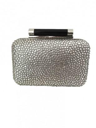 Diane von Furstenberg Silver Glitter Clutch bags