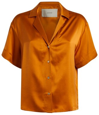 ASCENO Silk Prague Pyjama Shirt