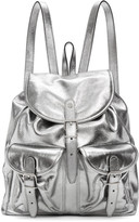 Saint Laurent Silver Leather Venice Backpack
