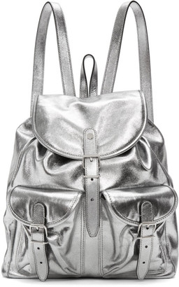 Saint Laurent Silver Leather Venice Backpack