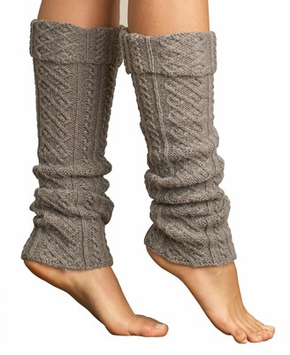 Lemon Women's Tulle Cable Leg Wrap with Cuff