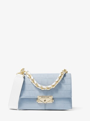 Cece Extra-Small Crocodile Embossed Leather Crossbody Bag