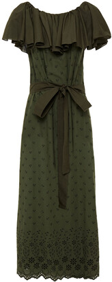 I.D. Sarrieri Ruffled Broderie Anglaise Cotton Maxi Dress
