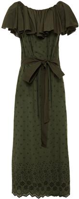 I.D. Sarrieri Ruffled Broderie Anglaise Cotton Maxi Dress