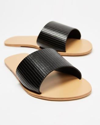 Billini - Women's Black Flat Sandals - Crete - Size 6 at The Iconic