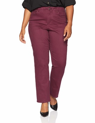 Bandolino Women's Plus Size Mandie Signature Fit High Rise Straight Leg Jean