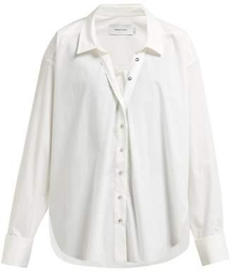 Marques Almeida Marques'almeida - Ring-detail Raw-hem Cotton Shirt - Womens - White