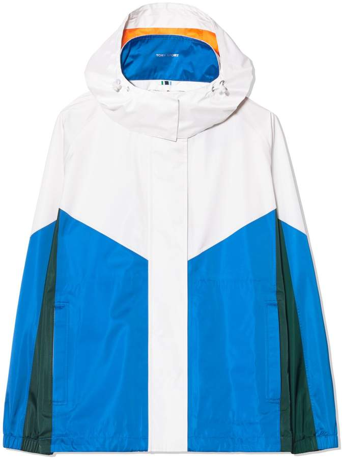 PERFORMANCE SATIN COLOR-BLOCK JACKET
