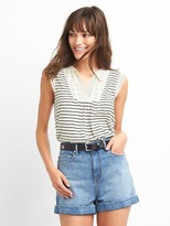 Gap Drapey stripe eyelet top