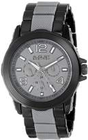 August Steiner Men's AS8114GY Multifunction Grey & Black Bracelet Watch