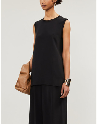 Joseph Bley silk-crepe de soie sleeveless blouse