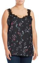 Jessica Simpson Plus Perry Floral Tank Top