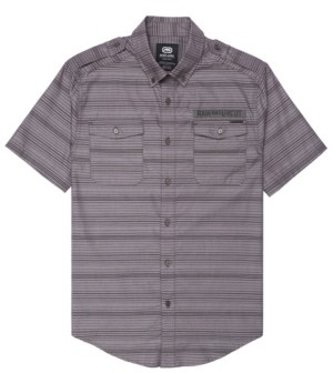 Ecko Unlimited Unltd Men's Striped Chambray Woven Shirt