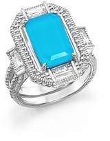 Judith Ripka Sterling Silver Doublet Baguette Ring