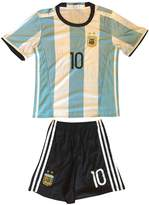 AFA FWC 2016 Argentina Home Messi 10 Futbol Football Soccer Kids Jersey & Short