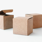"Minted ""3"""" Kraft Favor Box"""