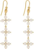 Cathy Waterman Women's Diamond & Pearl Triple-Drop Earrings