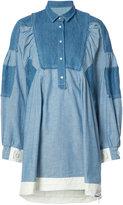 Sacai loose-fit dungaree dress - women - Cotton - 3
