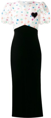 Rixo Fitted Contrasting Dress