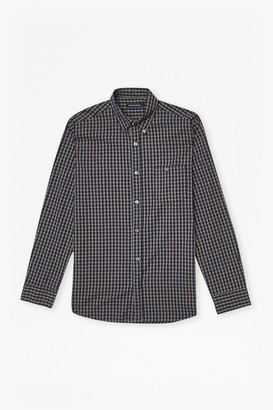 French Connection Checked Washed Cotton Shirt