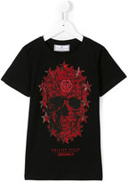 Philipp Plein skull print T-shirt - kids - Cotton/Crystal - 8 yrs