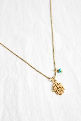 Mirabelle Hand Pendant Chain Necklace - Gold ALL at Urban Outfitters