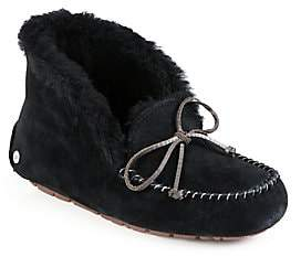 UGG Women's Alena Faux Fur-Lined Suede Slippers
