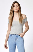Kirra Cropped Off-The-Shoulder Top