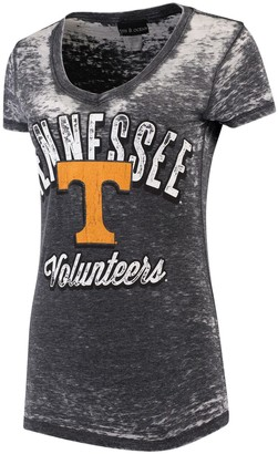 New Era Women's 5th & Ocean by Black Tennessee Volunteers Burnout Wash Jersey V-Neck T-Shirt