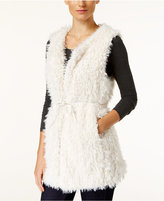 INC International Concepts Faux Sherpa Tie Vest, Only at Macy's