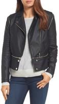 Halogen Petite Women's Convertible Faux Leather Moto Jacket