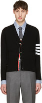 Thom Browne Black Classic Short V-neck Cardigan
