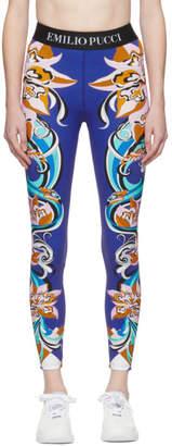 Emilio Pucci Multicolor Patterned Leggings