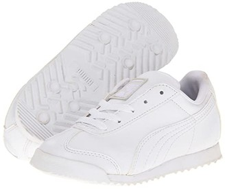 Puma Kids Roma Basic Kids (Toddler/Little Kid/Big Kid) (White/Light Gray) Boys Shoes