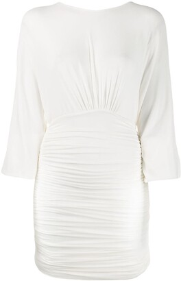 Alexandre Vauthier Fitted Ruched Mini Dress