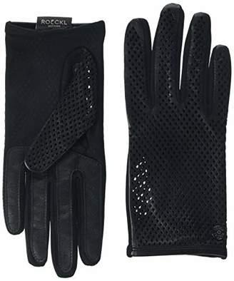 Roeckl Women's Sporty Rhomb Conductive Gloves, Black 000), 7