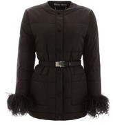 Miu Miu Puffer Jacket With Ostrich Feathers