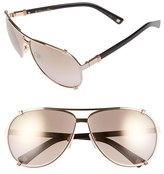Christian Dior Women's 'Chicago' 63Mm Metal Aviator Sunglasses - Gold/ Soft Pink