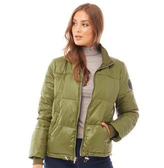 UGG Womens Izzie Puffer Nylon Jacket Olive