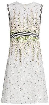 Giambattista Valli Sleeveless Woven Floral A-Line Dress