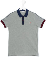 Moncler contrast collar polo shirt - kids - Cotton - 14 yrs