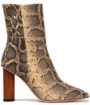 IRO Spokane Snake-effect Leather Ankle Boots