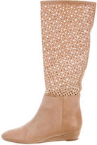 Loeffler Randall Leather Perforated Boots